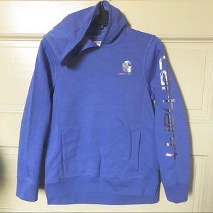 Carhartt bajablue heather hoodie sweatshirt M